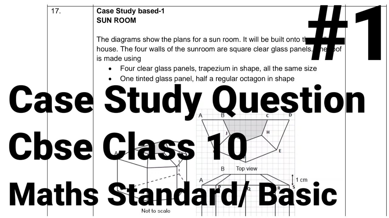 Class 10 Maths Case Based Questions For Cbse Board Exam 2021 | Case study Question #1