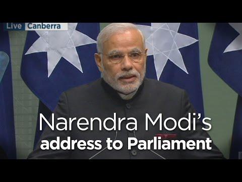 PM Modi speaks to Federal Parliament
