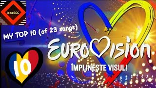 Eurovision Romania 2019 - Selectia Nationala - MY TOP 10 (of 23 songs)