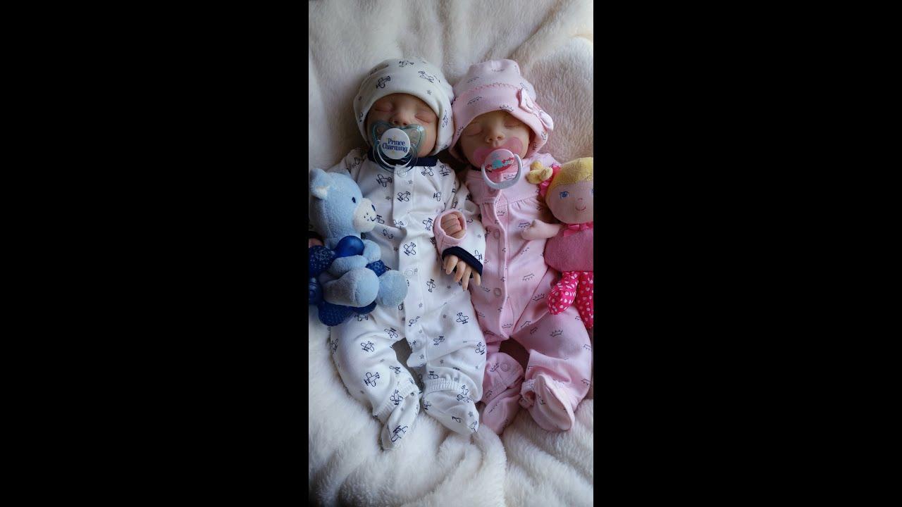 Reborn Twin Baby Boy Girl Preemies Megan By Pat Moutlan