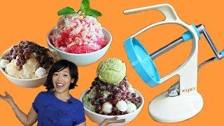 Vintage ICEPET Shaved Ice Maker Test   3 Ways - MATCHA KAKIGORI - PATBINGSU - NAM KANG SAI