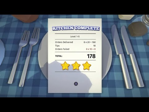 Overcooked! DLC | The Lost Morsel | 1-5 | 3 Stars | 2 Player Co-op |