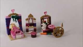 Lego Disney Princess Sleeping Beauty's Royal Bedroom Set 41060 Stop Motion Build, Time-lapse