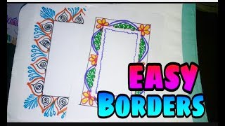 Border designs for School projects || Borders to draw on paper || Easy and Simple border designs ❤