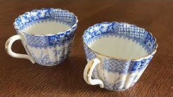 Antique blue and white china cups