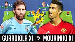 Guardiola XI VS Mourinho XI - FIFA 19 Experiment