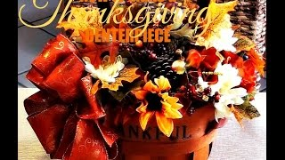 Craft With Me | How To Make A Thanksgiving Floral Centerpiece