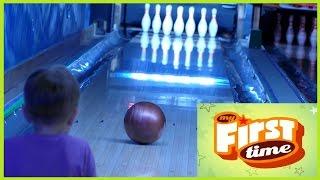 First Time Bowling Fun Первый раз в Боулинге