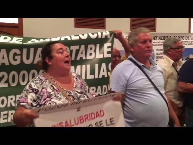 El Pleno Municipal, suspendido por las protestas de los parcelistas