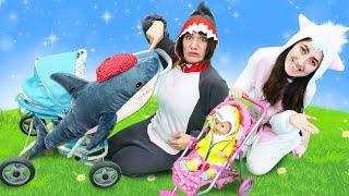 Видео куклы Беби Бон - Милая пони Единорожка и Акула идут гулять! Весёлые игры одевалки для детей