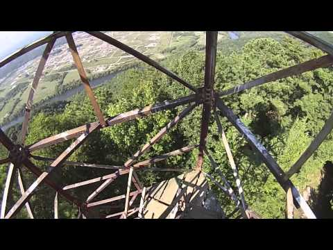 Bays Mountain Fire Tower.  A little sketchy.