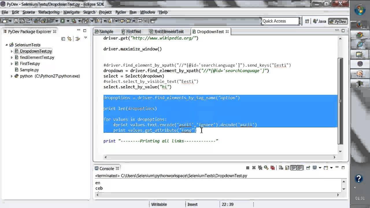 Selenium Python Tutorial - Handling Multiple Elements