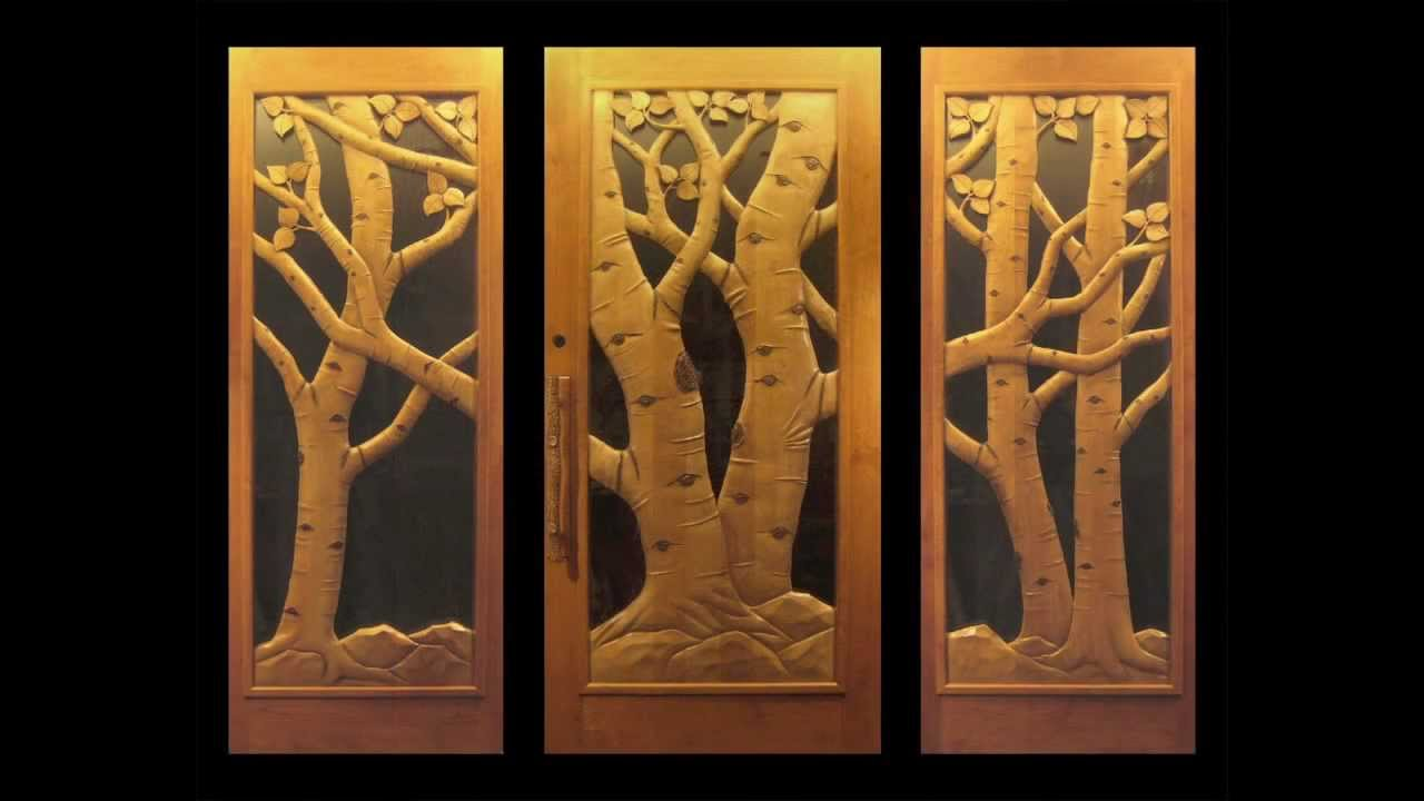 Carved Door Amp Custom Carved Wood Door With Buck And Doe