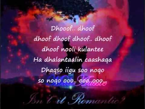 Somali Lyrics   Karaoke   Dhoof  waberi request