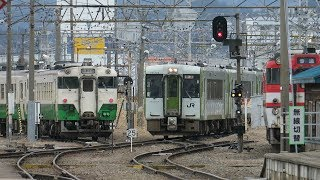 JR東日本 会津若松駅 磐越西線 新潟・郡山行き 相互乗り換え 快速 あがの など 2018 3