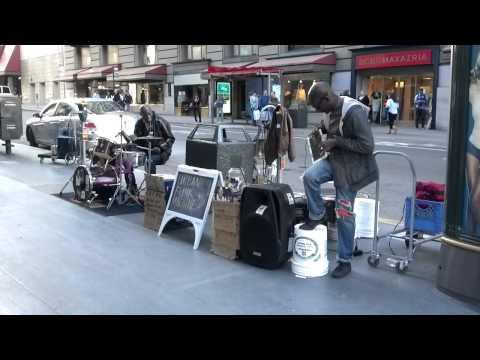 San Francisco Street Music, iPad2 + drums.