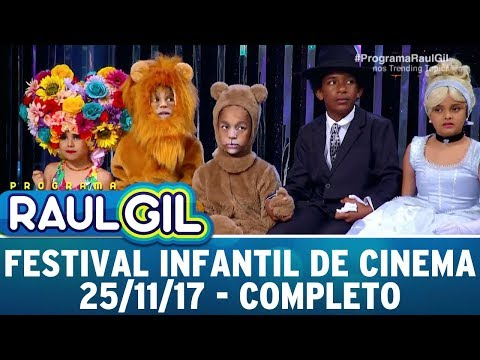 Festival Infantil De Cinema - Completo | Programa Raul Gil (25/11/17)
