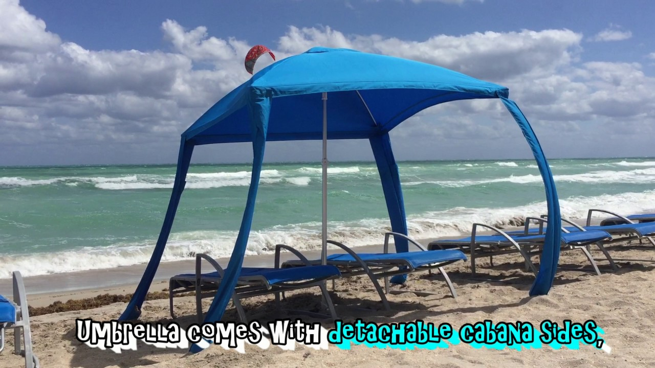 Testing New Beach Umbrella On A Windy Day