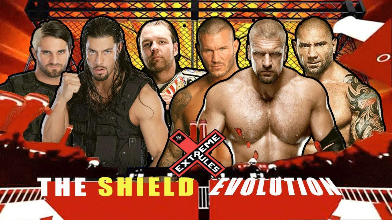 Wwe extreme rules 2014 the shield vs evolution full match hd youtube