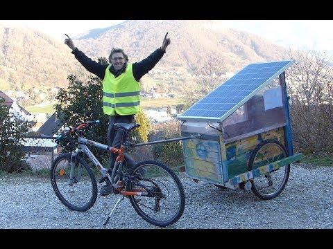 Vélo électrique Solaire. Transport gratuit