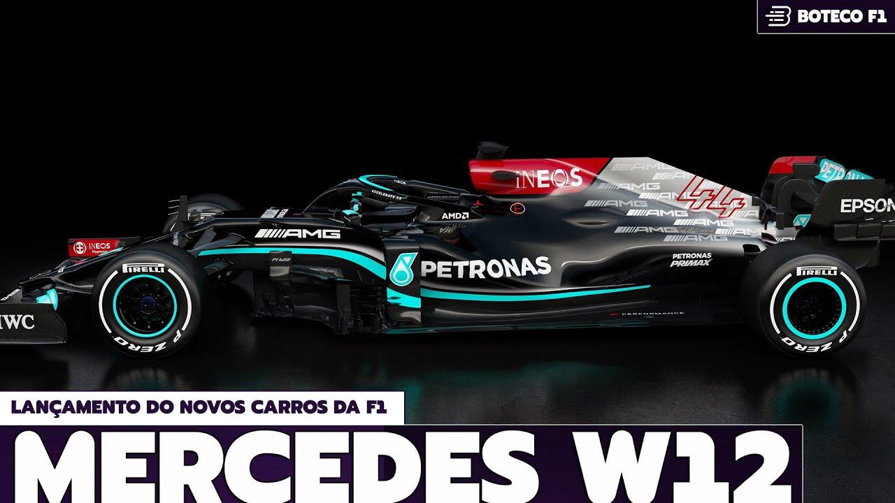 Lançamento do W12 da MERCEDES   Lá vem a FÓRMULA 1 2021! 🏎🔴😍