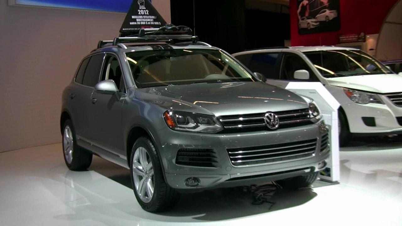 volkswagen touareg tdi exterior  interior   montreal auto show youtube