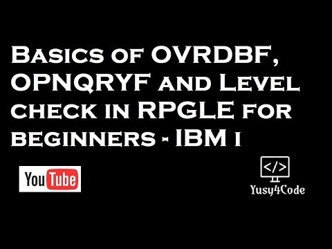 Basics of OVRDBF, OPNQRYF & Level check error in RPGLE
