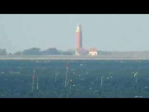 Challenging the ball - Lighthouse Texel. Distance 29 km .