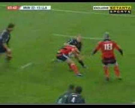 Ryan's pass to Carney H.C. against the Scarlets
