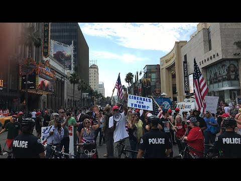 Refuse Fascism/Trump Hollywood Protest