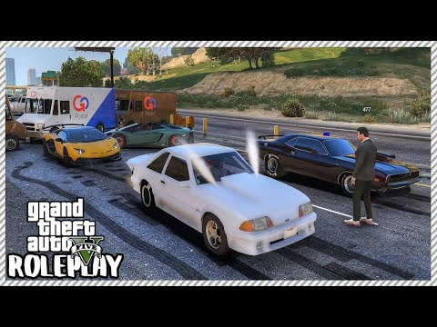 GTA 5 Roleplay - Street Racers 'SHUT DOWN' Highway Drag Racing   RedlineRP #297