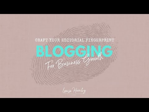 Blogging for Business Growth: Online marketing training for editors and proofreaders