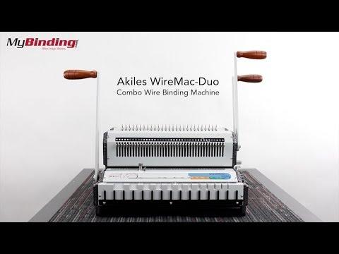Akiles WireMac Duo Combo Wire Binding Machine
