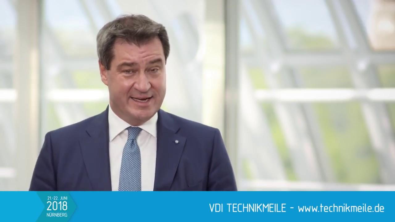 gruwort markus sder zur vdi technikmeile 2018 - Markus Soder Lebenslauf