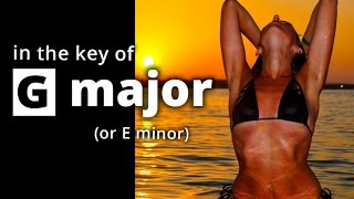 GUITAR Backing Track in G major - SAD Melodic ROCK Ballad Slow Jamtrack G