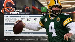 We're back with another video on madden 19 connected franchise and taking a look at what if brett favre came out of retirement & played for the 2019 ch...