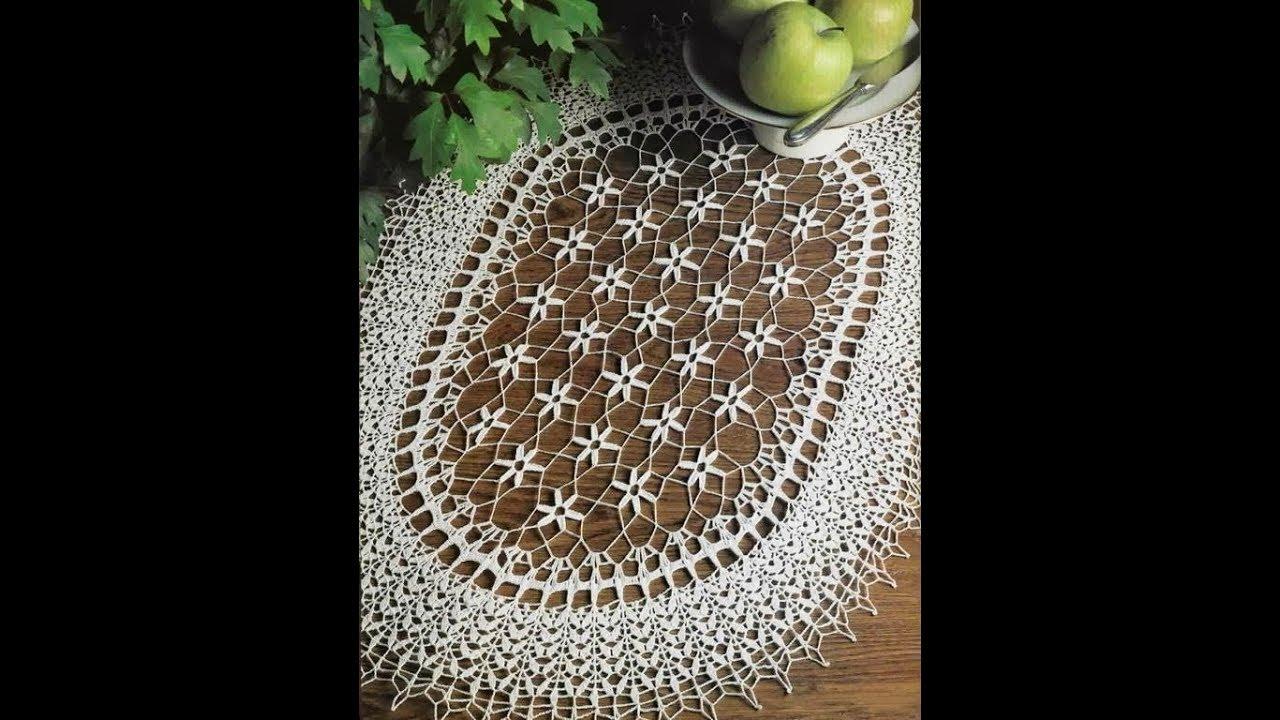 Oval Dantel Modelleri Sehpa Ortusu Masa Ortusu Vs Crochet