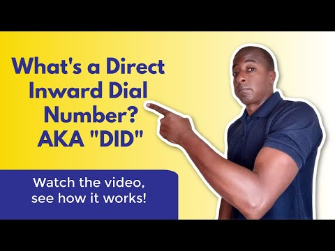 What is a direct inward dial number? (DID)