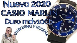 Nuevo 2020 CASIO Marlin Duro MDV106-B Unboxing Y Reseña #todorelojconfernando
