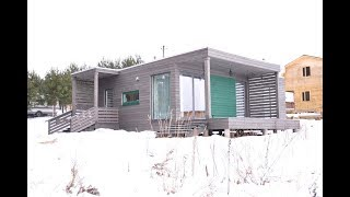Модульный дом «Родник» построен по технологии prefab в Беларуси компанией HomeLand.