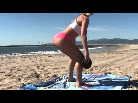Sexy Girls! Bikini Butt, Abs Beach Workout