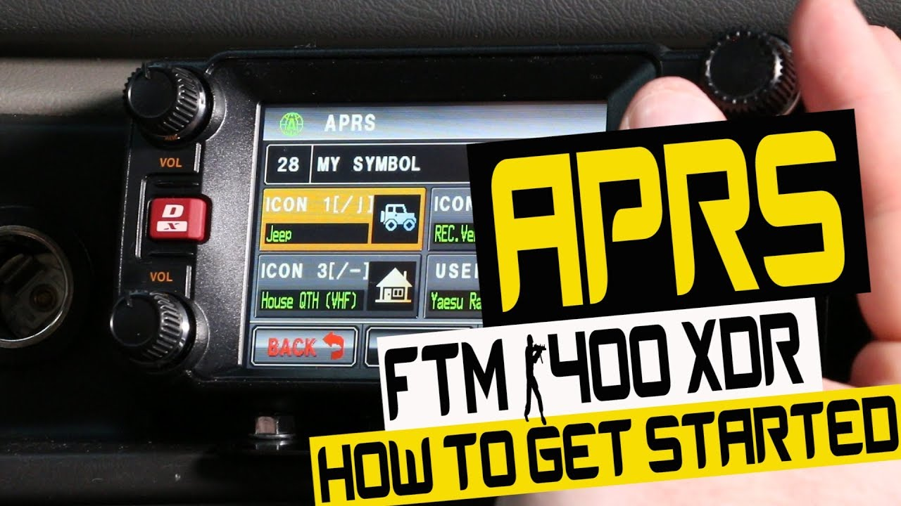 How to get started on APRS - Step By Step Basics - FTM 400 XDR