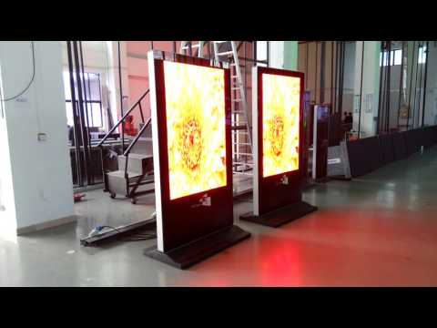 Floor Standing Digital Signage with P3.91 Outdoor High Definition Led Displays