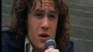 heath ledger singing cant take my eyes off you