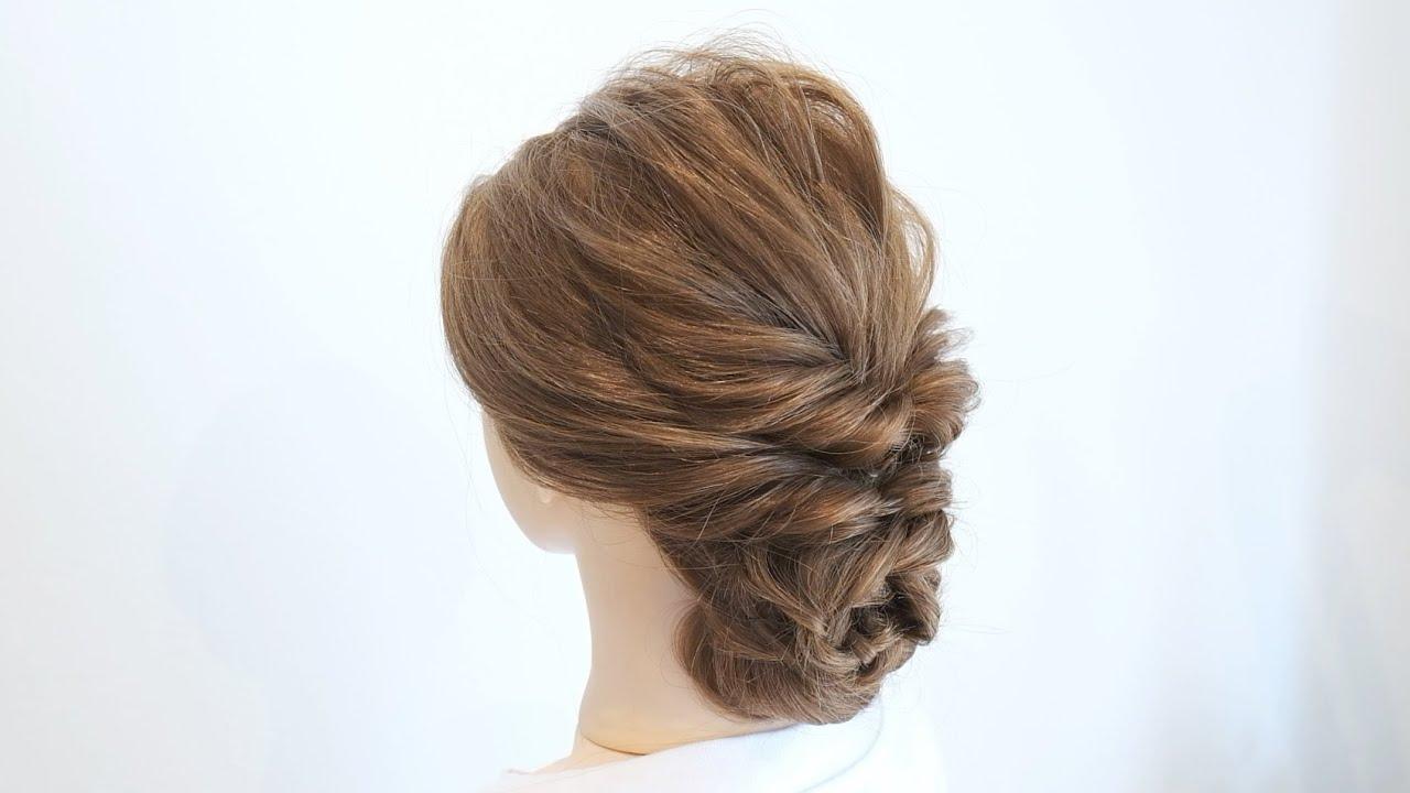 くるりんぱと三つ編みだけで出来るまとめ髪/Easy hairstyle/ hair works &SOL