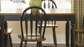 Liberty Furniture Low Country 5pc Casual Dining Room In Anchor Black With Suntan Bronze Finish