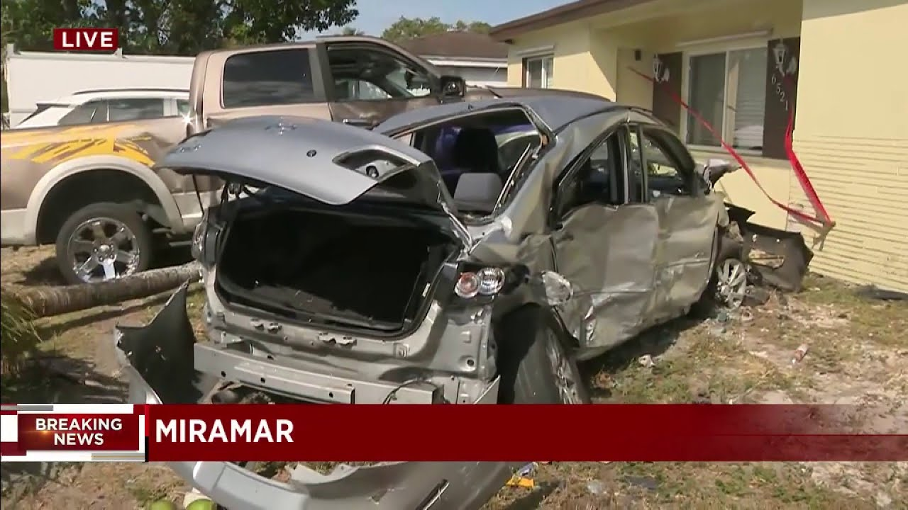 Witnesses say driver of Tesla who slammed into Miramar house was driving at a high rate of speed