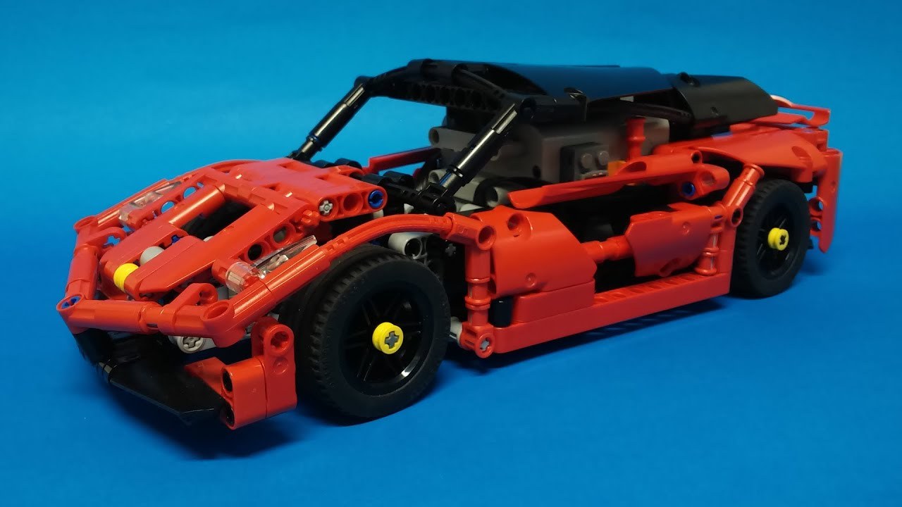 lego technic motorized sports car youtube. Black Bedroom Furniture Sets. Home Design Ideas