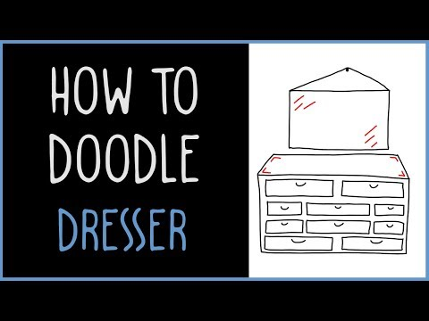 Learn How to Doodle a Dresser With a Mirror (drawing tips)