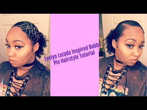 Evelyn Lozada Inspired|Bobby Pin Hairstyle Tutorial for Natural Hair